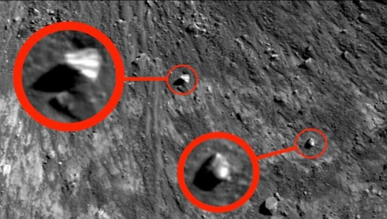 It's OFFICIAL: Pyramid UFO spotted hovering in moon's crater, conspiracy theorist suggests alien presence 1