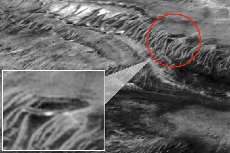 Conspiracy theorist claims this mysterious structure on Mars a secret ALIEN base 1