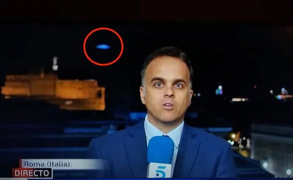 UFO sighting: Mystery blue UFO caught on Spanish TV sparks claims aliens are watching us 1