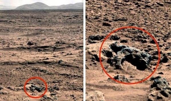 """Aliens on Mars: UFO hunter""""s shock discovery of """"4m tall alien' in NASA photos 1"""