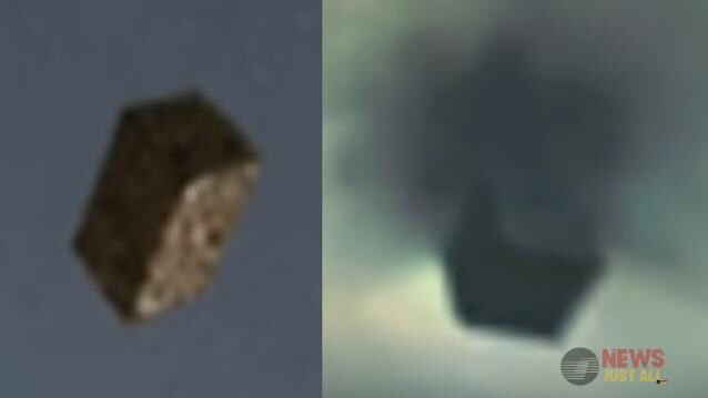 A Black Cube UFO Hurtles  Out Of A Portal Over El Paso 1