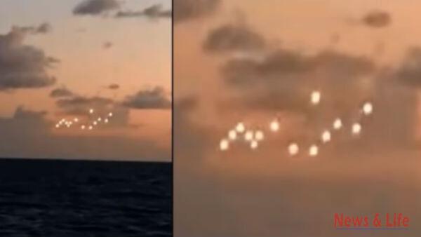 Fleet of UFOs Filmed on the coast of North Carolina 2