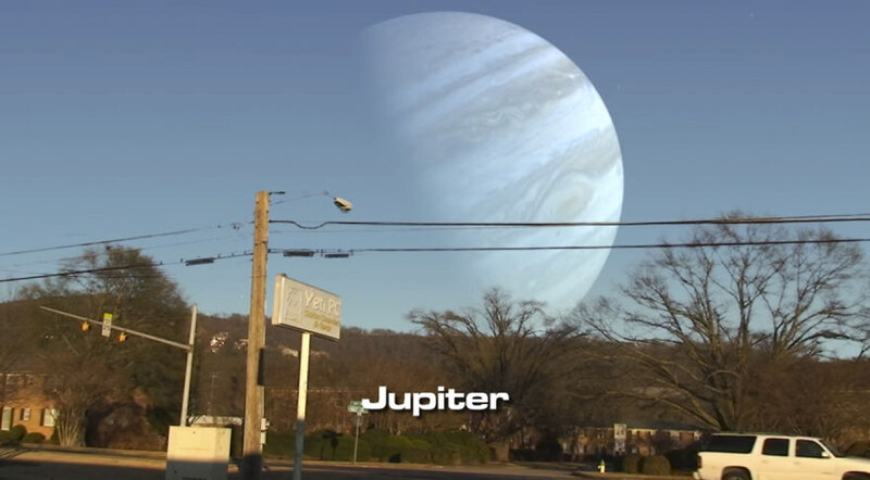 This Is How The Sky Would Look If Planets Appeared Instead Of The Moon 3