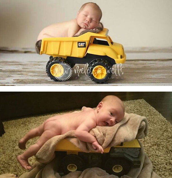 25 Funny Newborn Photoshoots That Didn't Go As Expected 1