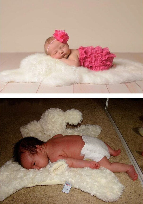 25 Funny Newborn Photoshoots That Didn't Go As Expected 13