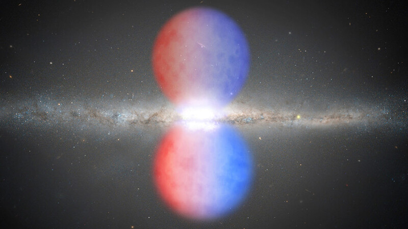 The Milky Way's giant gas bubbles were seen in visible light for the first time 1