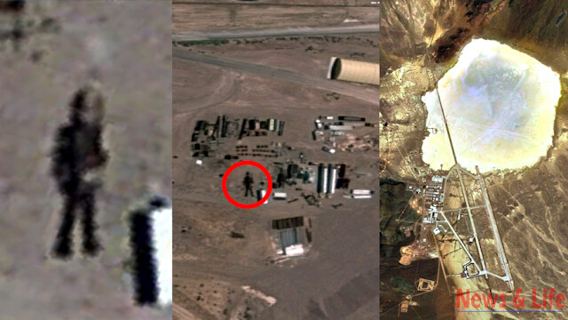 16 Meter Robot Found In Area 51 On Google Earth Map (video) 1