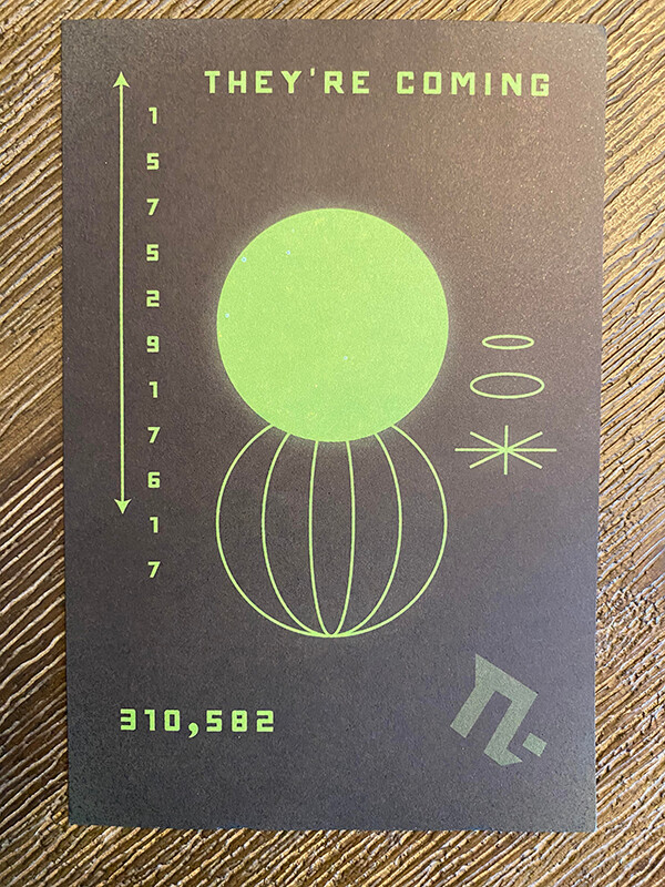 """""""They're coming"""" – тнσuรคหds of people received strange postcards with bizarre symbols and Roswell phone number 2"""