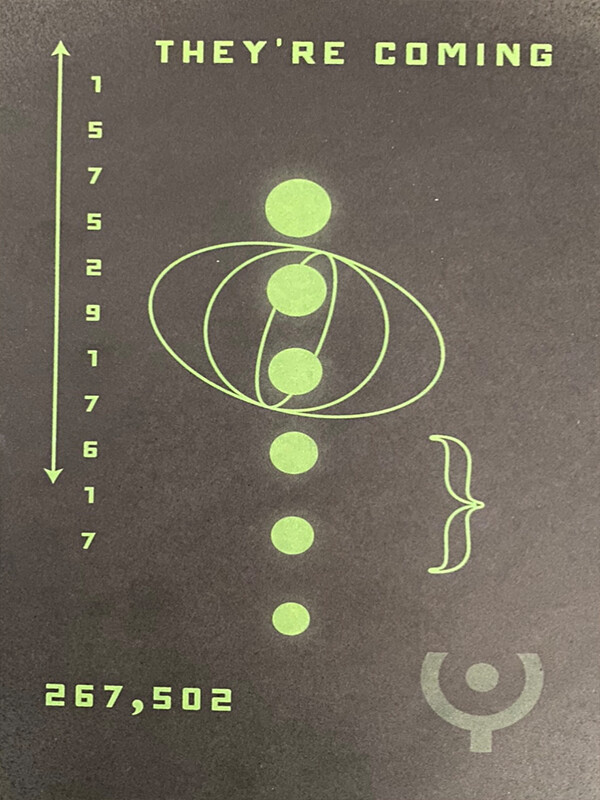 """""""They're coming"""" – тнσuรคหds of people received strange postcards with bizarre symbols and Roswell phone number 5"""