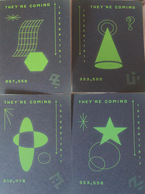 """""""They're coming"""" – тнσuรคหds of people received strange postcards with bizarre symbols and Roswell phone number 6"""
