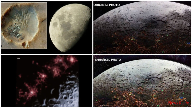 """Incredible: Cities On The Other Side Of The Moon. It Was Taken On NASA's 25th Secret Mission To The Moon Named """"Syn 25"""" 1"""