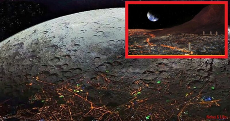 """Incredible: Cities On The Other Side Of The Moon. It Was Taken On NASA's 25th Secret Mission To The Moon Named """"Syn 25"""" 2"""