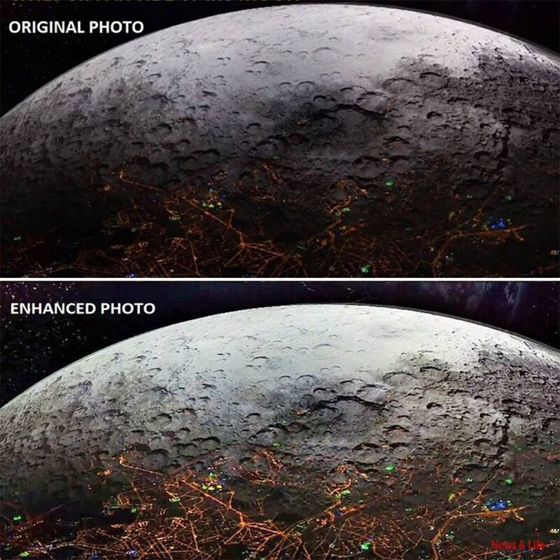 """Incredible: Cities On The Other Side Of The Moon. It Was Taken On NASA's 25th Secret Mission To The Moon Named """"Syn 25"""" 3"""