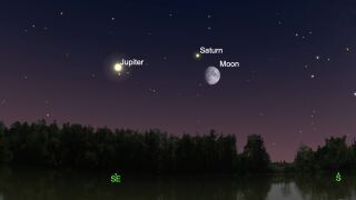 The moon will visit Saturn and Jupiter this week in skywatching doubleheader 1