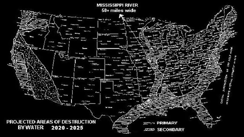 Well-known Time Traveler Reveals Future Map of the US After Devastating Events (2020 – 2025) 2