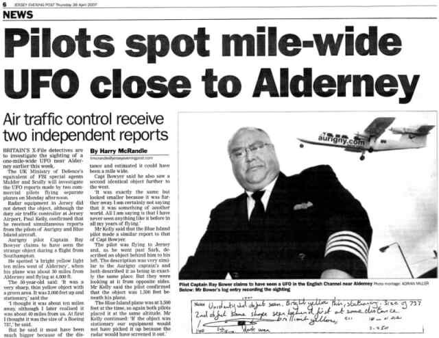 UK Most Credible UFO Incident: British Channel Islands UFO Sighting In 2007 2