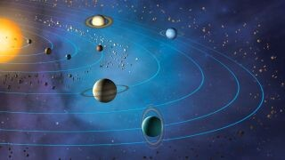 Why do the planets in the solar system orbit on the same plane? 1