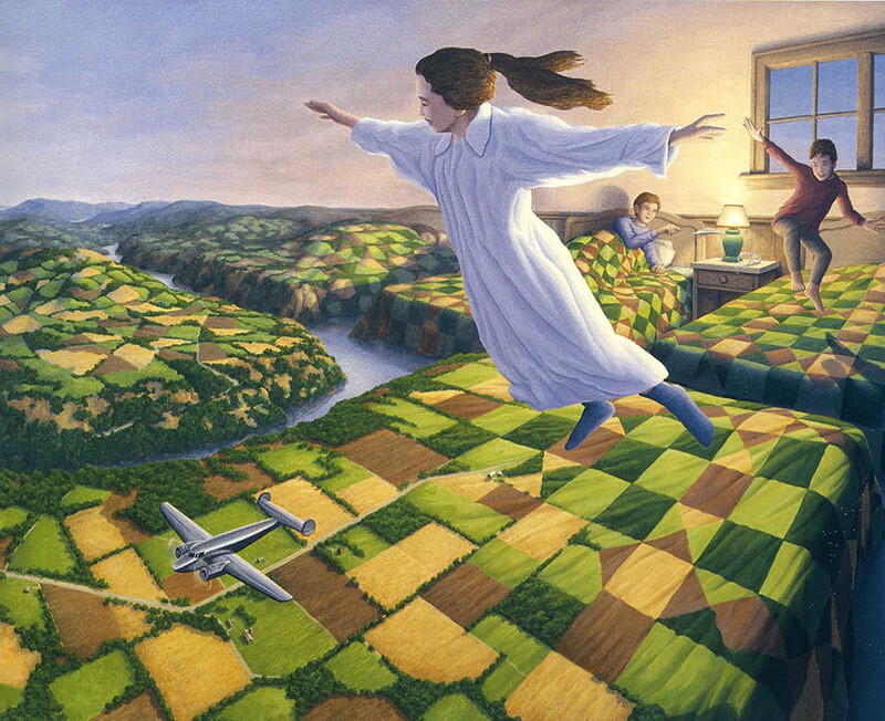 5+ amazing optical illusion paintings by artist Rob Gonsalves 3