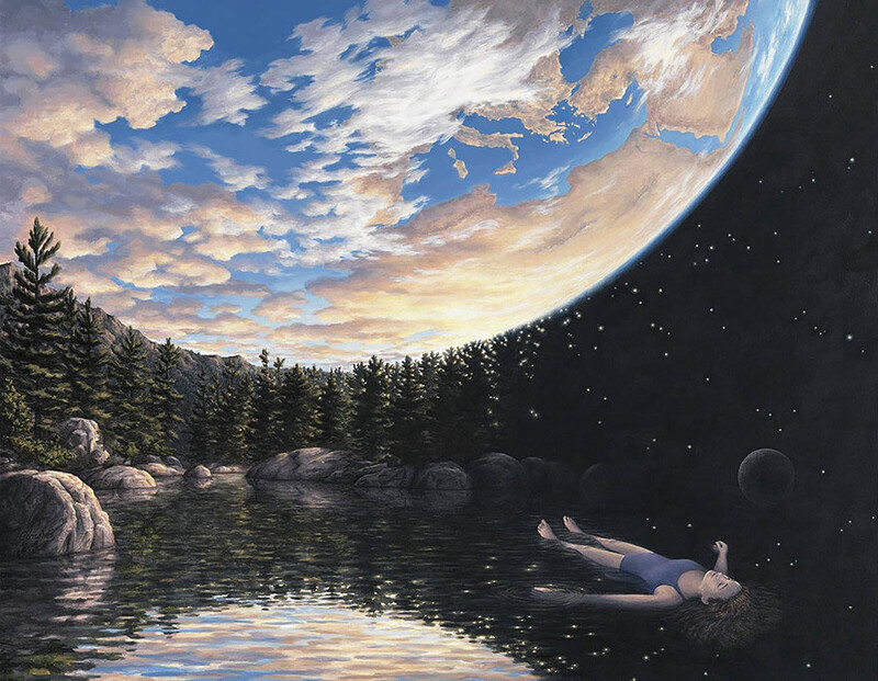 5+ amazing optical illusion paintings by artist Rob Gonsalves 4