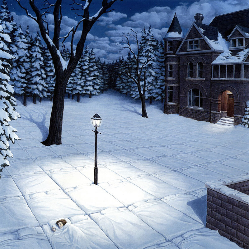 5+ amazing optical illusion paintings by artist Rob Gonsalves 6