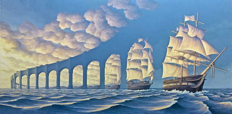 5+ amazing optical illusion paintings by artist Rob Gonsalves 7