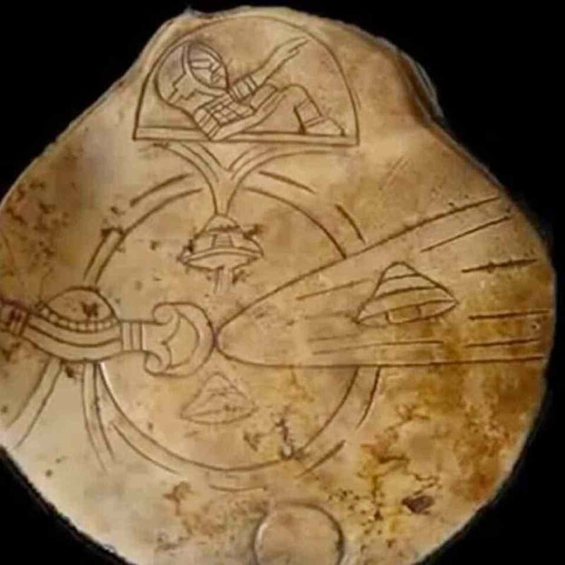 Ancient sculptures depicting alien-like figures have been found in a cave in Mexico 2