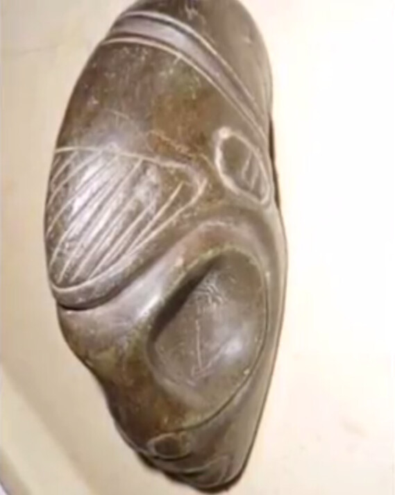 Ancient sculptures depicting alien-like figures have been found in a cave in Mexico 4