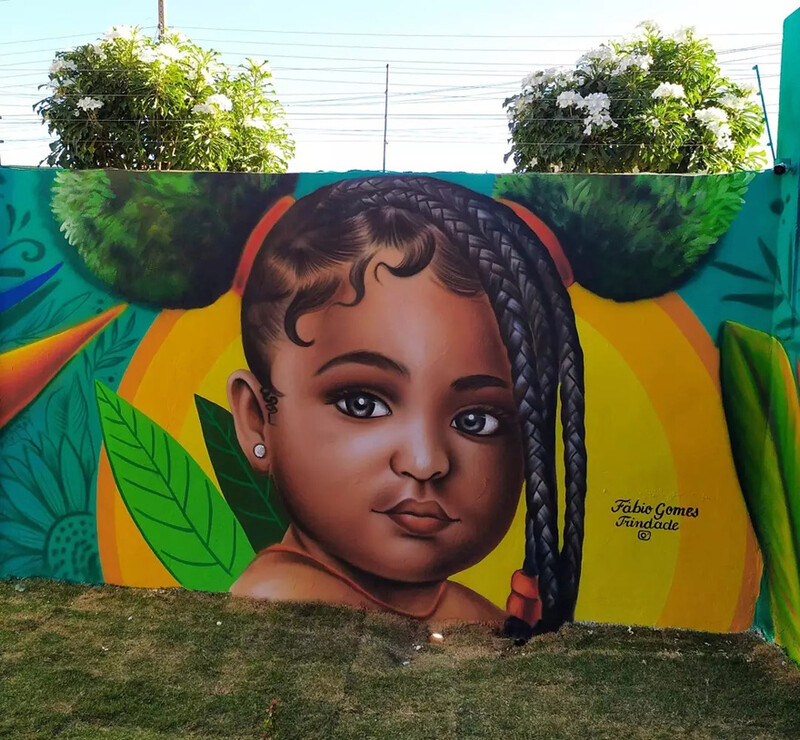 This brazilian street artist used real trees to complete these portraits of women 3