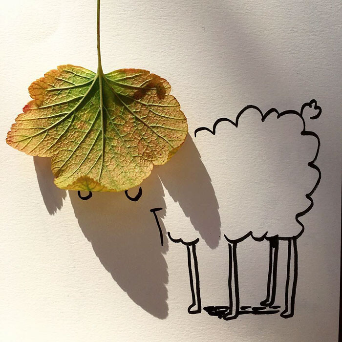 Artist Vincent Bal made shadows of common everyday objects turned into funny yet creative sketches 6