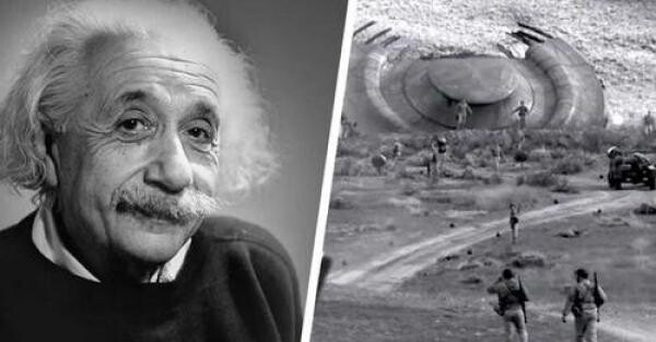 Dr. Shirley Wright stated that Albert Einstein flew to the US military airbase In 1947 to study UFO and Alien wreckage 1