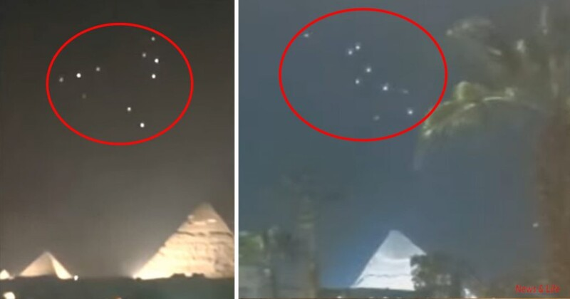 [video] Fleet of UFOs was detected above the Pyramids of Giza, Egypt 1
