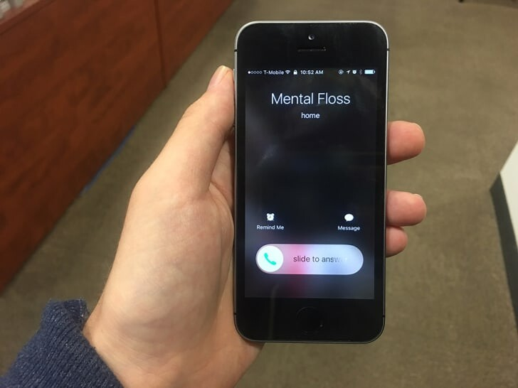 Why do two different screens show up every time an iPhone has a call? 1