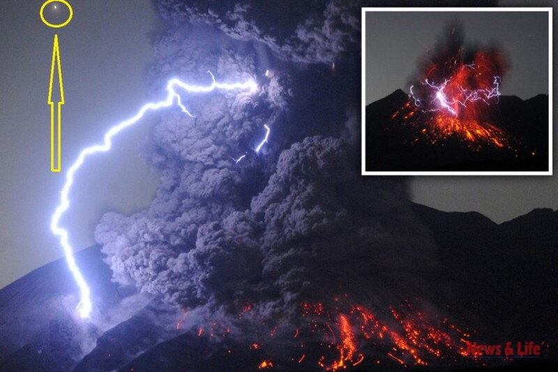 Here Is The Reason why there are so many UFO sightings near Volcanic Eruption 1