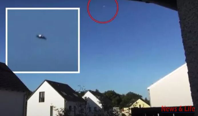 UFO sighting: It's the best UFO Video in Years'-  Evidence of an Alien craft flying above Germany. 1