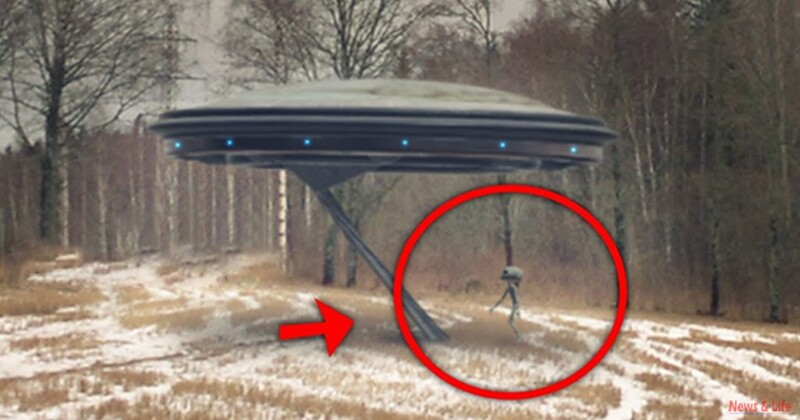 A man recorded an Alien goes inside flying saucer! Clear UFO Footage! 1