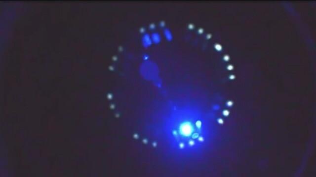 Enhanced new video! Alien grey walking around inside UFO 1