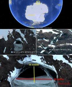 Is the gate to underground world in Antarctida? (3 VIDEOS) 2